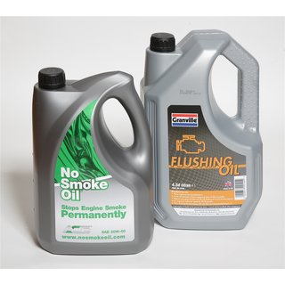 No Smoking Engine Oil - Stops your Engine Smoking Permanently SAE 5w 30 With 4.54L Flush Oil
